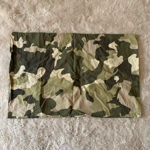 Pottery barn teen camouflage print pillow case